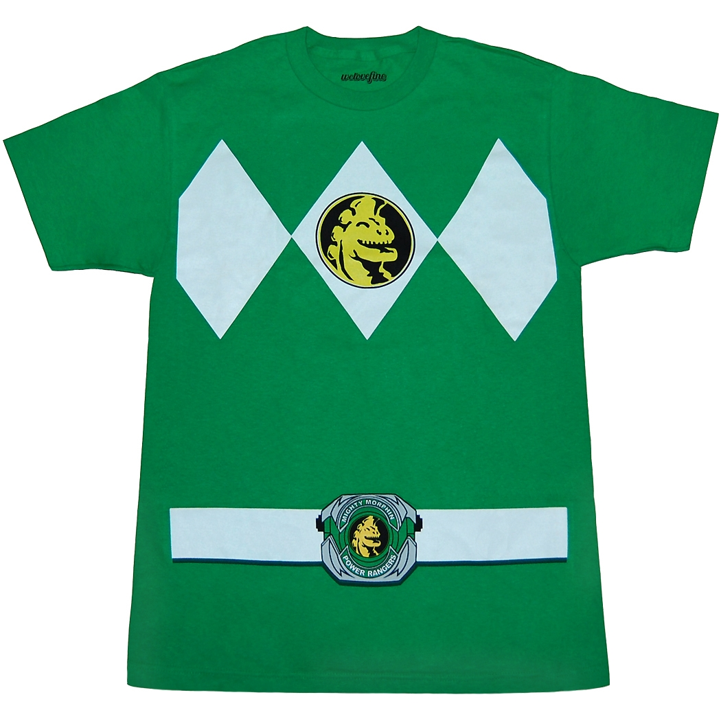 Mighty Morphin Power Rangers Green Ranger Costume T-Shirt