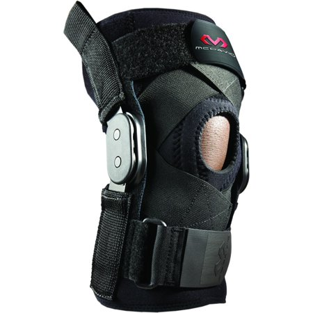 f6b276d6e1 McDavid Level 3 Knee Brace w/Polycentric Hinges & Cross Straps - Black -  Walmart.com