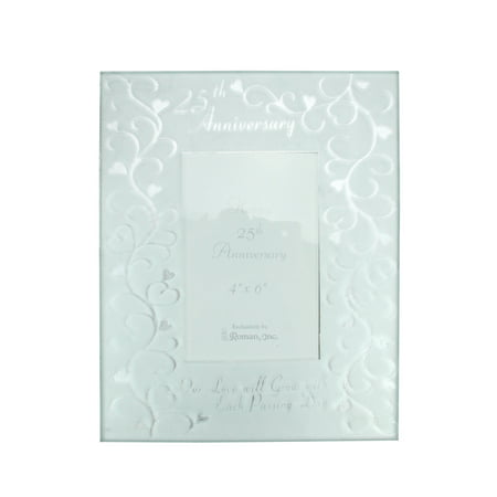 - Silver Coloured Wedding Anniversary Glass Photo Picture Frame 4
