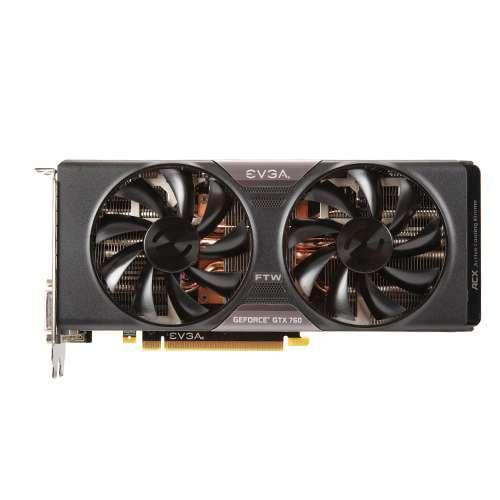 EVGA GeForce GTX760 FTW with ACX Cooler 4GB GDDR5 256Bit Dual-Link DVI-I DVI-D HDMI DP SLI Ready 04G-P4-3768-KR