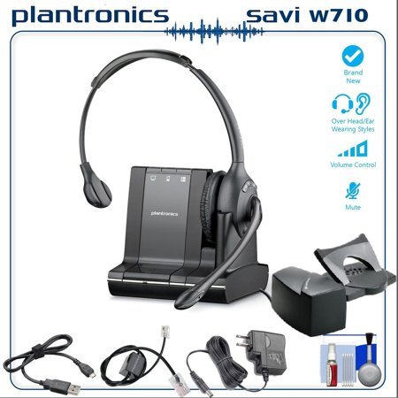 af1367e8645 Plantronics Savi W710 Multi Device Wireless Headset System with HL10 Phone  Handset Lifter Bundle - Walmart.com