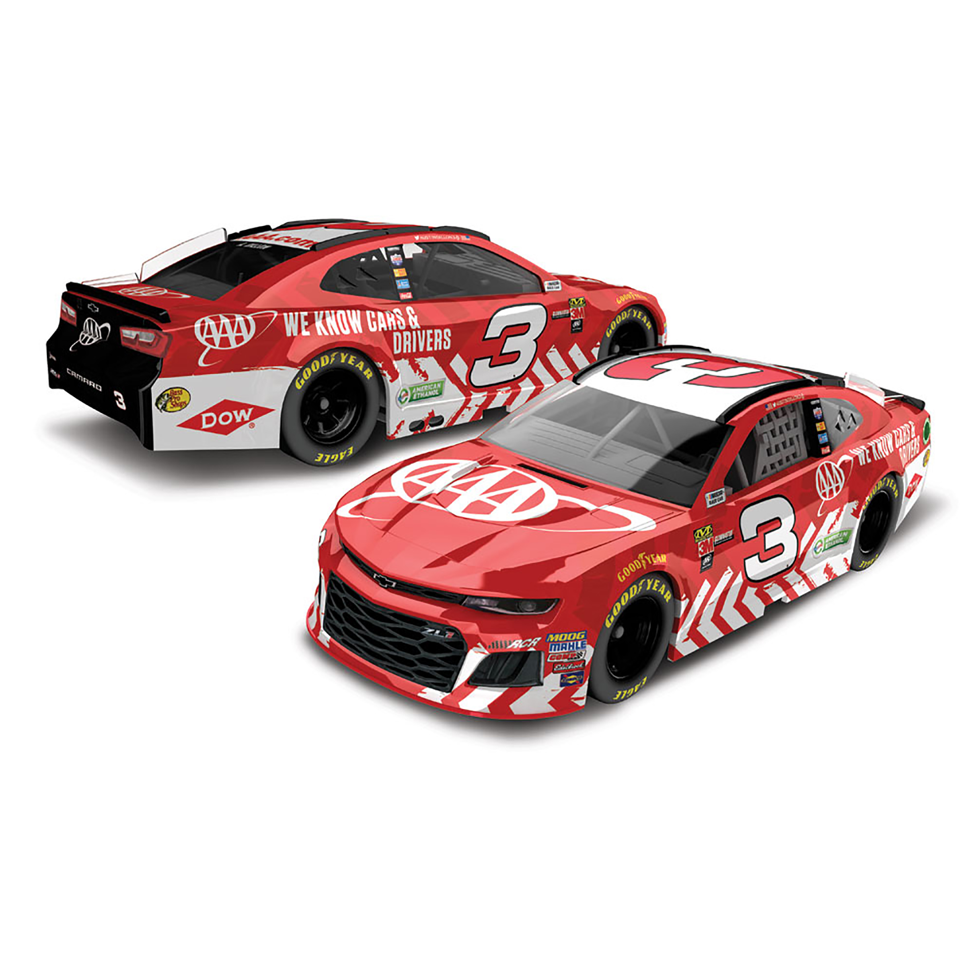 Austin Dillon Action Racing 2018 #3 AAA 1:64 Monster Energy Nascar Cup Series Die-Cast... by Lionel LLC