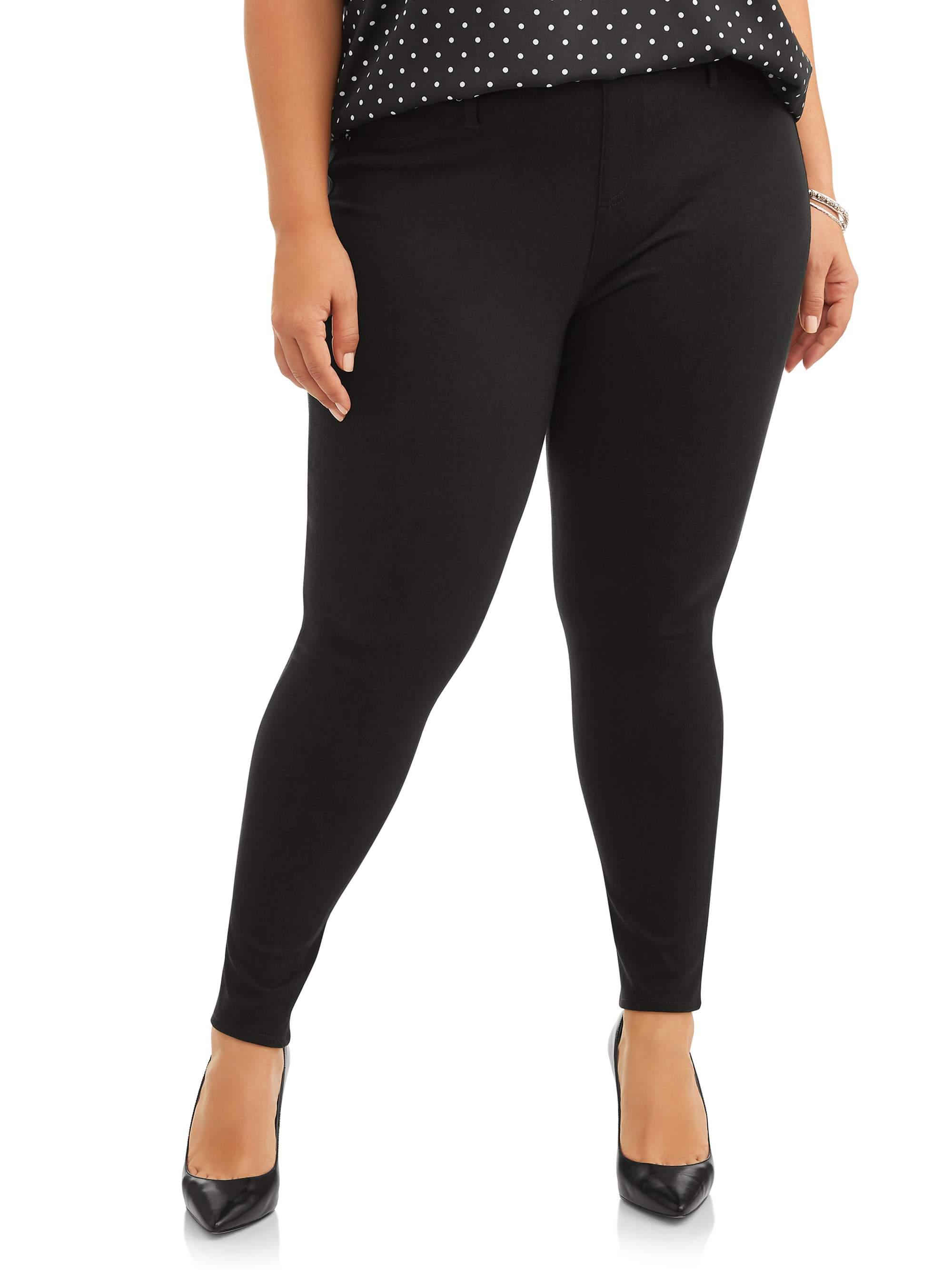 Terra & Sky Terra & Sky Women's Plus Size Full Length Super Soft Jegging