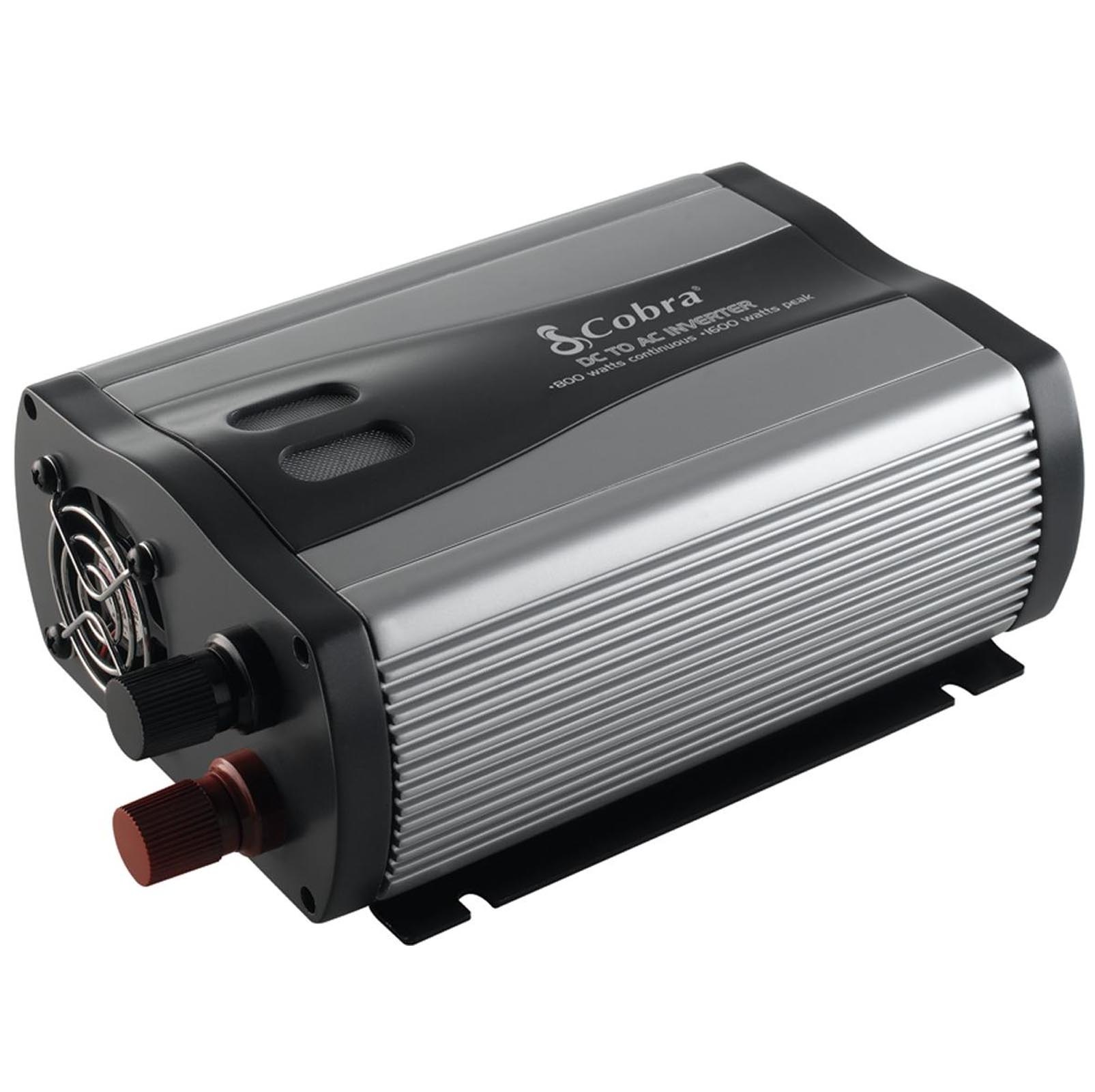 Refurb COBRA CPI880 Compact 800 WATT DC to AC 120V Car Power Inverter w/USB Port [Refurbished]