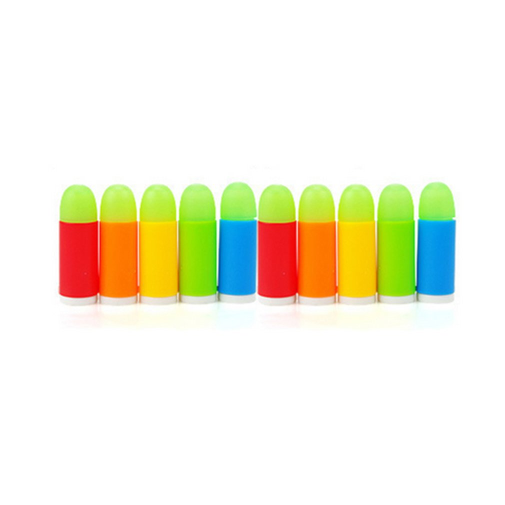 Soft Bullet Gun 10pcs Lot Colorful Luminous Bullets Mini Toy For Pistol