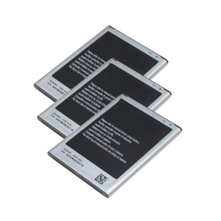 3 Pack 1900mAh Battery For Samsung B500BE - Fits Galaxy S4 Mini i9192