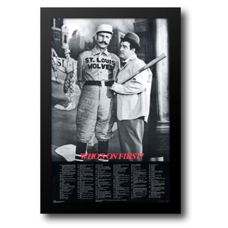 Abbott and Costello: Who's On First? 26x38 Framed Art