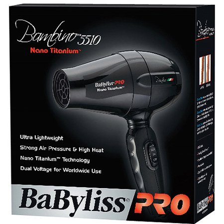 babyliss bambino 5510 nano titanium 1000 watt hair dryer. Black Bedroom Furniture Sets. Home Design Ideas