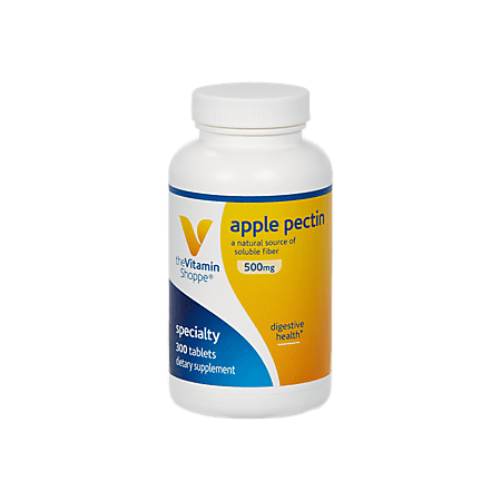 Sox Fiber - Apple Pectin 500mg  A Natural Source of Soluble Fiber, Supports Digestive Health  Promotes Regularity  Dairy, Gluten  Soy Free Tablet (300 Tablets) by The Vitamin Shoppe
