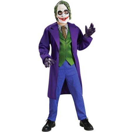 Batman The Dark Knight Deluxe The Joker Costume, Child's - Dark Knight Joker Costumes