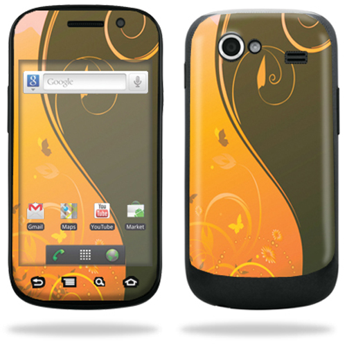 Mightyskins Protective Vinyl Skin Decal Cover for Samsung Google Nexus S 4G Cell Phone wrap sticker skins  - Blue Flowers