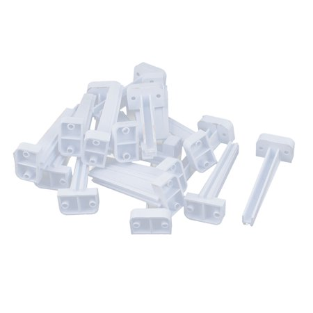 - 20pcs Vertical Mount PCB Board Supporting Slot Guide Rail Holder Bar 65mm Height