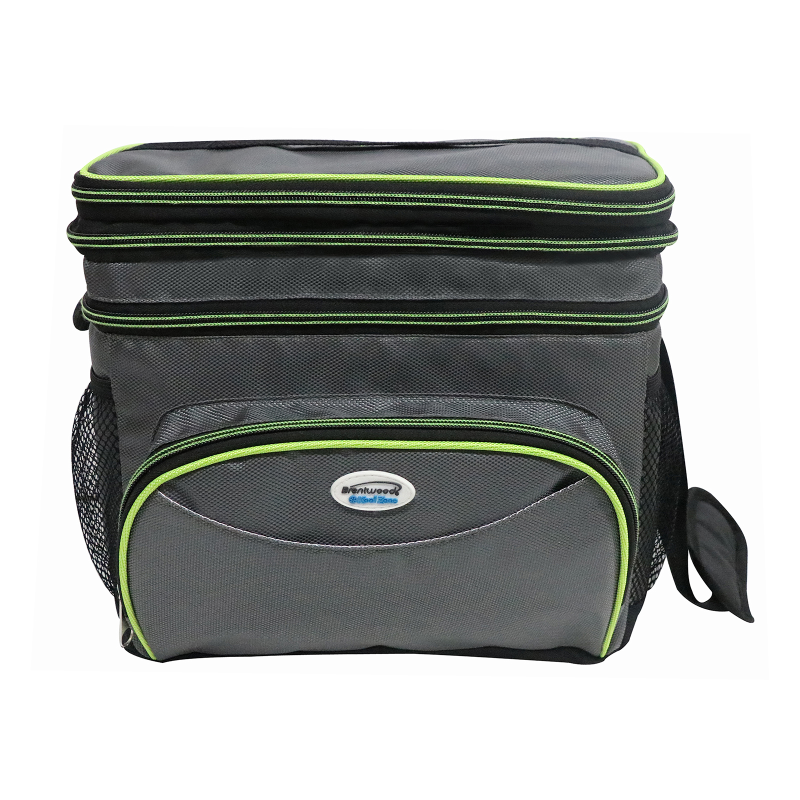 Brentwood Cooler Bag 6 Can w/ Hard Plastic Ice Bucket-GREEN