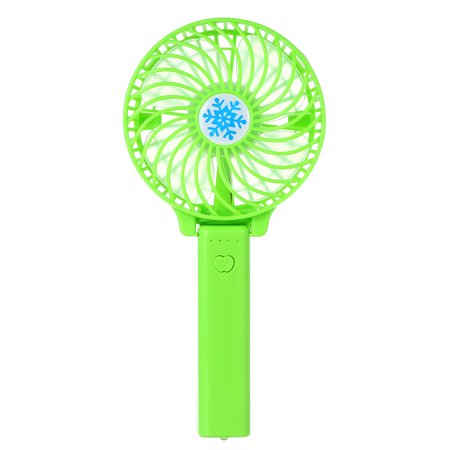 Portable USB 18650 Battery Rechargeable Fan Ventilation Foldable Air Conditioning Fans Foldable Cooler Mini Operated Hand Held Cooling Fan for Outdoor Home (Green) - Battery Operated Fan And Light