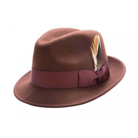 8212b3f2ceb3f Montique - Montique Men s Pinch LiteFelt Snap Brim Hat H-37 (Medium ...