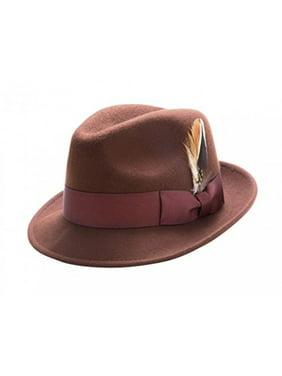 Product Image Montique Men s Pinch LiteFelt Snap Brim Hat H-37 (Large f62d9ec8ba5b