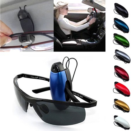3 Pcs Car Auto Sunglass Visor Clip Sunglasses Eyeglass Holder 8 Color in Random
