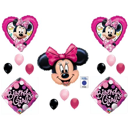 Minnie Mouse Happy Helpers Birthday Girl Party Balloons Decoration Supplies - Girl Birthday Supplies