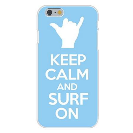 Apple iPhone 6+ (Plus) Custom Case White Plastic Snap On - Keep Calm and Surf On