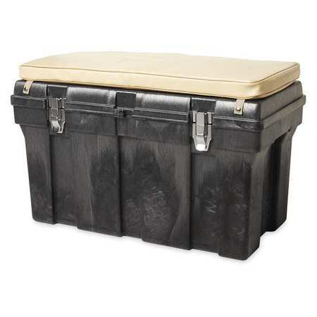 RUBBERMAID FG772000BLA Foam Tack Box,w/Padded Top G4614045 (Tack Trunk)