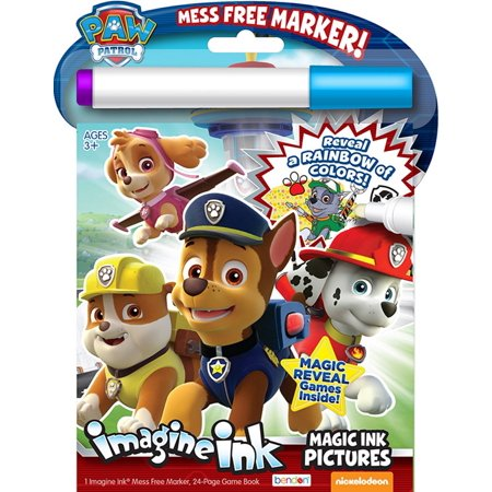 Paw Patrol 24-Page Imagine Ink Magic Pictures Activity - Magic Ink