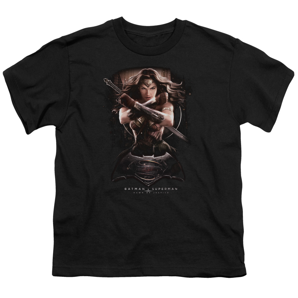 Batman Vs Superman Wonder Woman Ground Zero Big Boys Short Sleeve Shirt