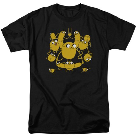 Adventure Time Men's  Jakes T-shirt Black - Jake Adventure Time Onesie