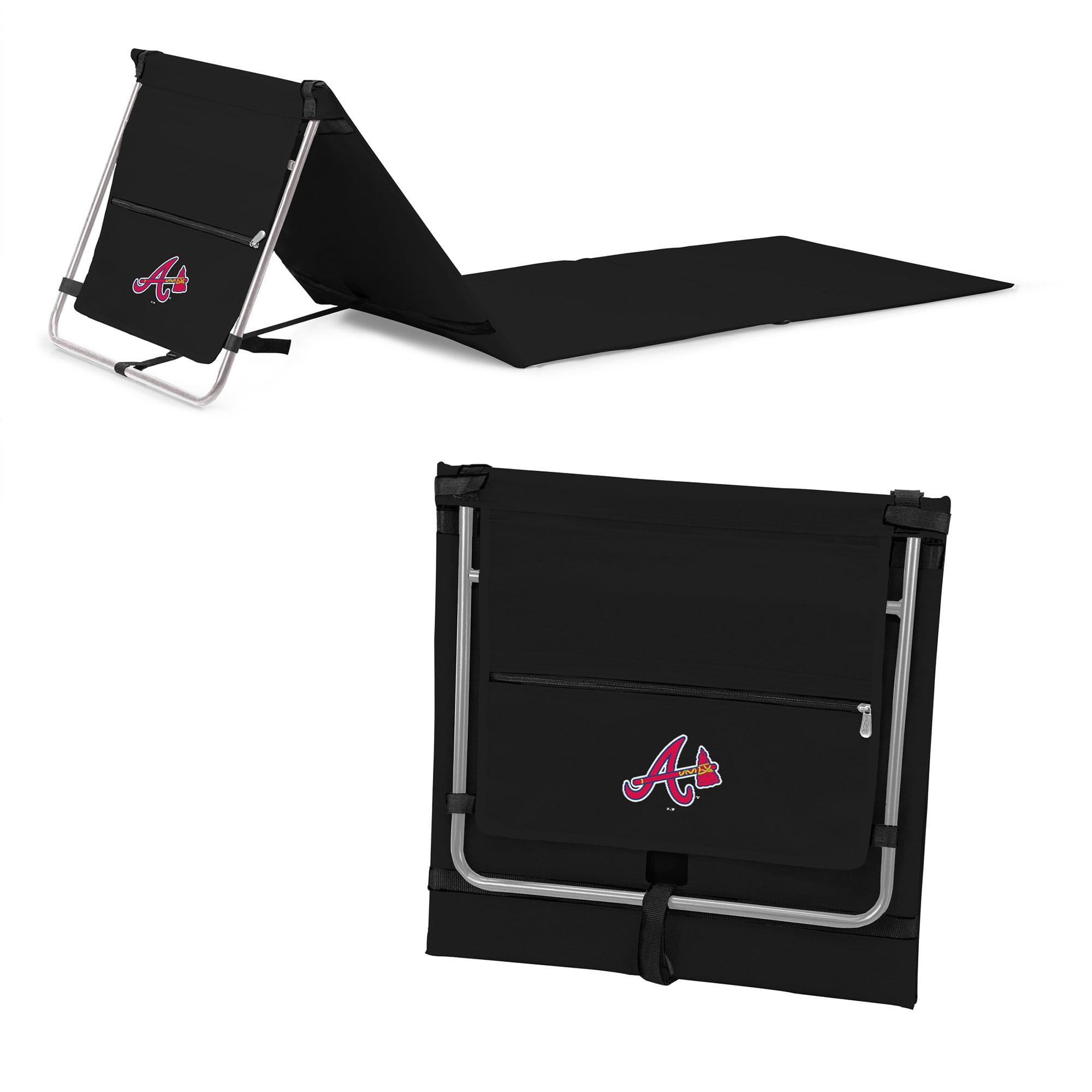 Atlanta Braves Portable Lounger Beach Mat - Black - No Size