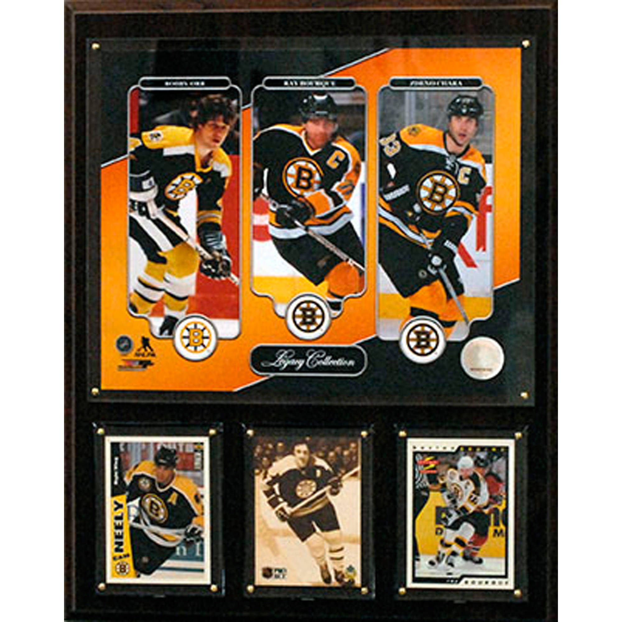 C&I Collectables NHL 12x15 Bobby Orr, Ray Bourque, Zdeno Chara Boston Bruins Legacy Collection Plaque