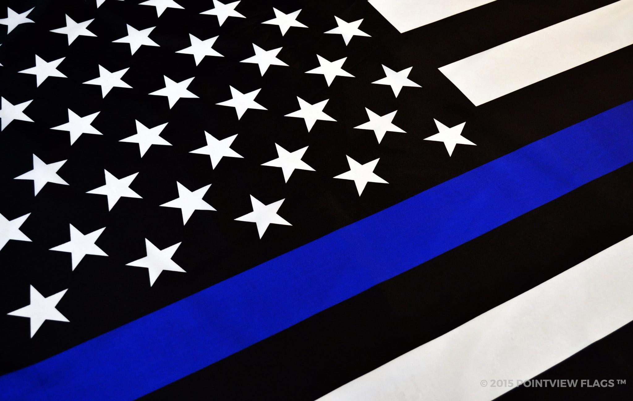 dd8a16523 Thin Blue Line American Flag, 4 ft x 6 ft Polyester - Walmart.com