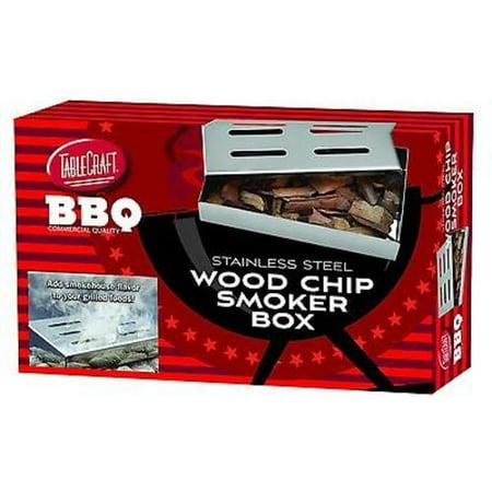 TableCraft BBQ Series Stainless Steel Wood Chip Smoker Box