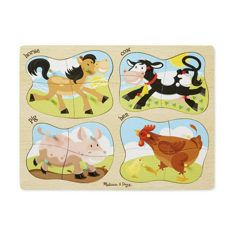 Melissa & Doug 4-in-1 Peg Puzzle - Farm