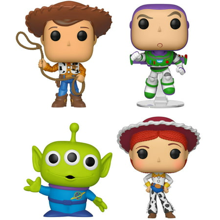 Funko POP! Disney Toy Story 4 Collectors Set 1 - Sheriff Woody, Buzz Lightyear, Alien, Jessie - Woody Toy Story Jessie