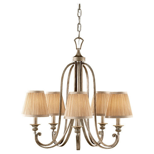 Murray Feiss  F2642/5  Chandeliers  Abbey  Indoor Lighting  ;Silver Sand