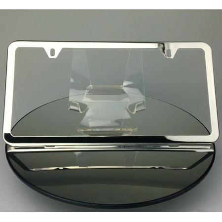 Slim 2 Holes Style Polish Mirror Stainless Steel License