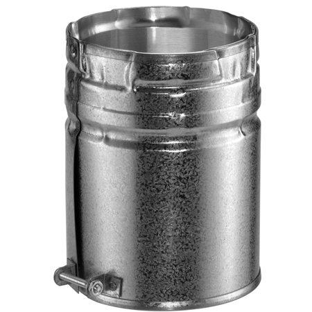 """DuraVent 4GVAM 4"""" Inner Diameter - Type B Round Gas Vent Pipe - Double Wall - 6"""" Male Adapter"""