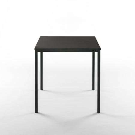 Zinus Umer Modern Studio Collection Soho Square Table Black