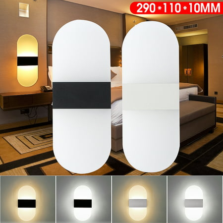 - AC100-240V Cube LED Wall Sconces Modern Acrylic Indoor Outdoor Sconce Lighting Bedside Lamp Fixture for Hallway Aisle Living Room Oval Lamp
