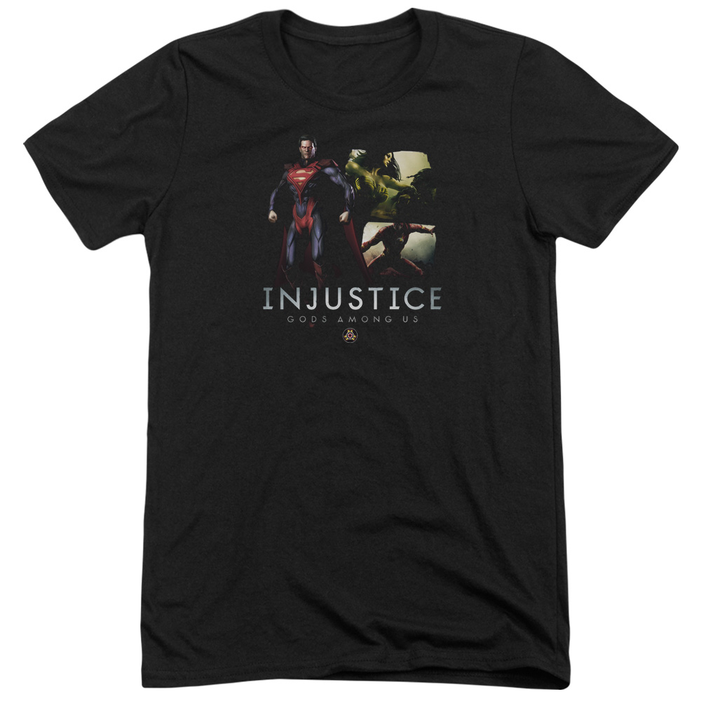 Injustice Gods Among Us Supermans Revenge Mens Tri-Blend Short Sleeve Shirt