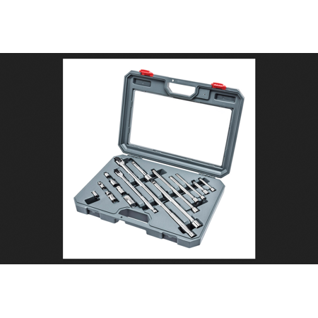 Crescent 16 pc. SAE Alloy Steel 1/4 in. and 3/4 Socket Accessories Set