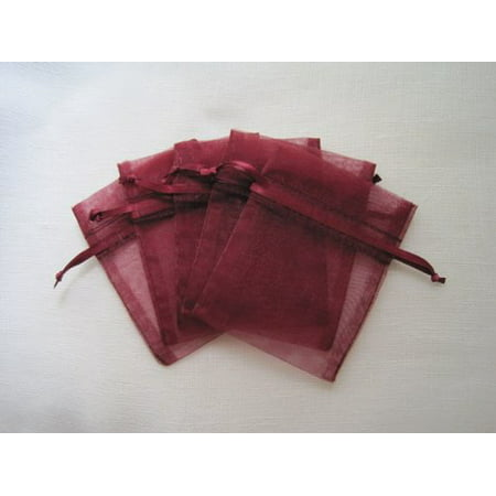 MyCraftSupplies Premium Organza Bags 4x6 Inch 30-Pack for Favors, Gifts, Jewelry (Wine)