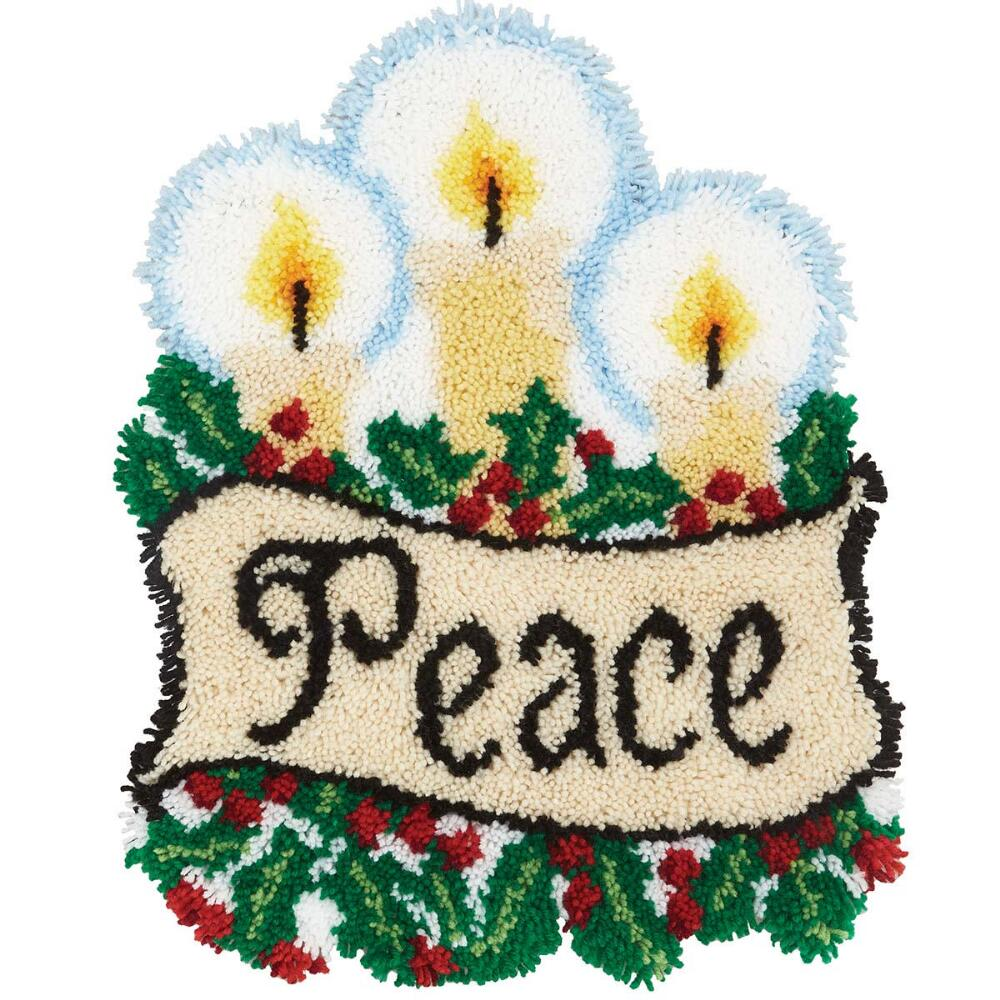 Craftways Holiday Peace Latch Hook Kit