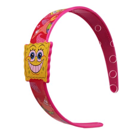 Spongebob Squarepants Shells and Flowers Hot Pink Girls Headband - Pink Bob