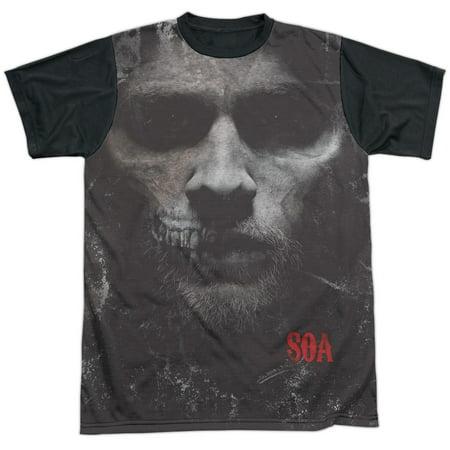 Sons Of Anarchy - Jax Skull - Short Sleeve Black Back Shirt -
