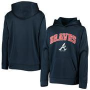 Atlanta Braves Youth Logo Pullover Hoodie - Navy