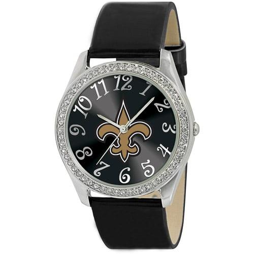 Game Time NFL Women's New Orleans Saints Glitz Watch, Black