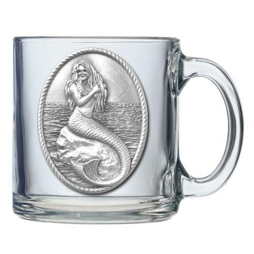 Mermaid Coffee Mug Clear 16oz