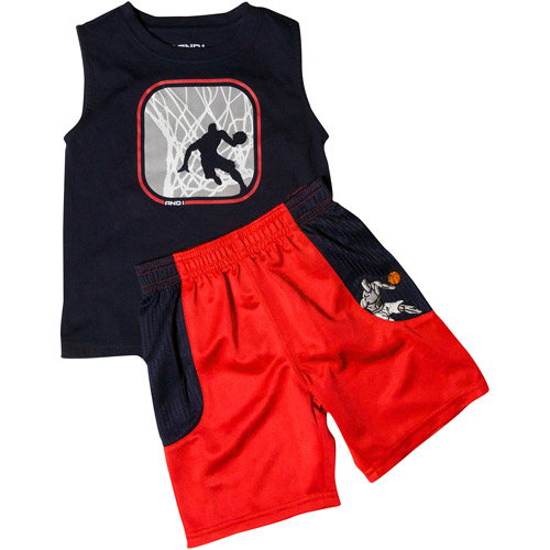 AND1 Baby Boys' 2-Piece Athletic Tank and Short Set