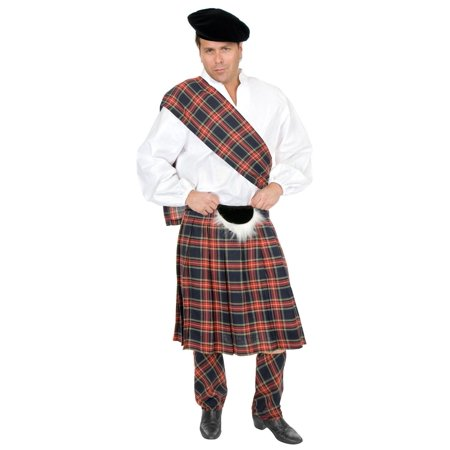 Mens Scottish Kilt Highlander Costume
