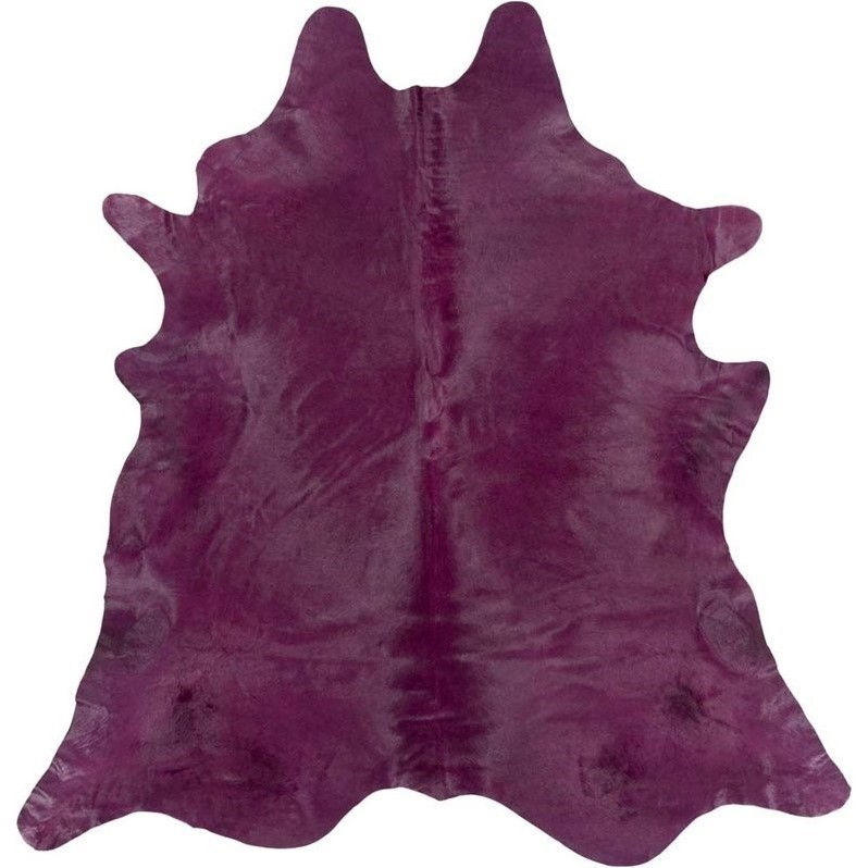 Surya Limu 7' x 7' Square Hide Rug in Purple